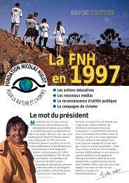 rapport d'activités 1997 - Fondation pour la Nature et l'Homme