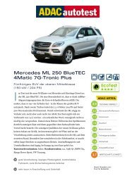 Mercedes ML 250 BlueTEC 4Matic 7G-Tronic Plus - ADAC