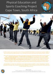 Cape Town Physical Education And Sports ... - African Impact