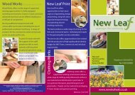 New Leaf Print Clothing W orks - Devon Partnership NHS Trust