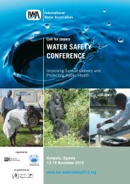 WATER SAFETY CONFERENCE - World Health Organization