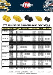 ITR ROLLERS FOR BULLDOZERS AND EXCAVATORS - VR Trading