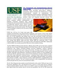 University of South Florida - Florida Energy Systems Consortium