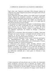 L'APPROCCIO AL PAZIENTE CHIRURGICO - Simferweb.net