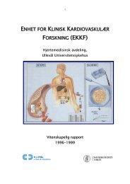 Vitenskapelige «aktiviteter» ved Enhet for klinisk ... - Ous-research.no
