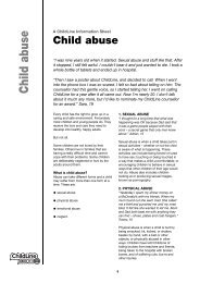 Child abuse: a ChildLine information sheet - Young Southampton
