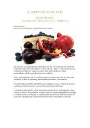 Nutrition made easy - Antioxidants & Micronutrients P3