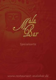 www.restaurant-malabar.de Speisekarte