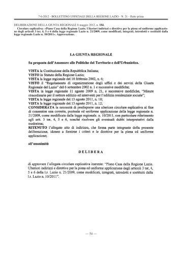 7-6-2012 - BOLLETTINO UFFICIALE DELLA ... - Comune di Alatri