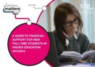 A Guide to Financial Support for Higher Education Students 2013/14