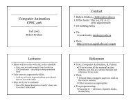 Introduction, animation basics - Ugrad.cs.ubc.ca