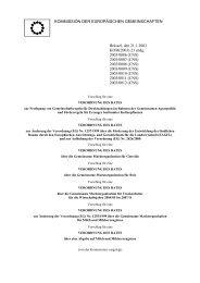 Festlegung von Gemeinschaftsregeln - Ecologic Events