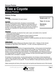 I See a Coyote - Kansas Foundation for Agriculture in the Classroom