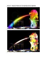 Annex A – Visuals of Merlion & I: An Inspiring Journey Lightshow