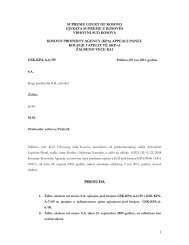 SUPREME COURT OF KOSOVO - Eulex