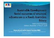 TAFI/UTAS Workshop Hobart, December 11th & 12th ... - Umr-Amure