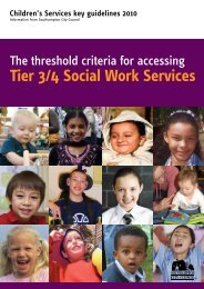 The threshold criteria for accessing Tier 3/4 Social Work Services