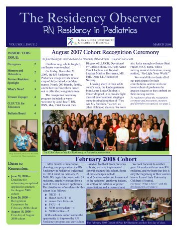 The Residency Observer - Loma Linda University Medical Center