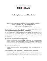 Fonds de placement immobilier RioCan