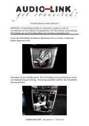 Anleitung Radio-Ausbau Mazda 5 HINWEIS: Um Installationsfehler