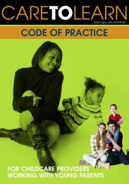 Care to Learn - Code of practice for providers - Young Southampton