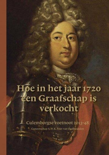 Hoe in het jaar 1720 een Graafschap is verkocht