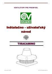 Inštalačno - užívateľský návod návod - KLIMAVEX as