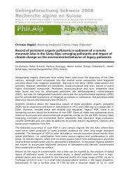 Gebirgsforschung Schweiz 2008 Recherche alpine en Suisse
