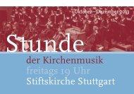 Stunde der Kirchenmusik - Programm Oktober bis ... - Bach : vokal