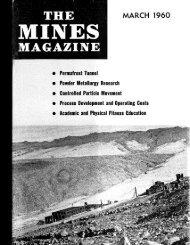 T H E M A G A Z I N E - Mines Magazine - Colorado School of Mines