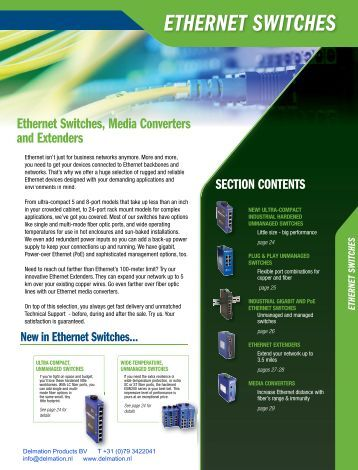 ethernet switches - Delmation