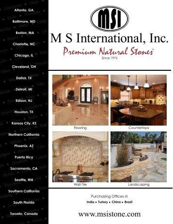 2012 General Brochure - Natural Stone