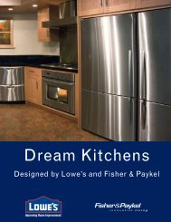 Designed By Lowe's And Fisher & Paykel