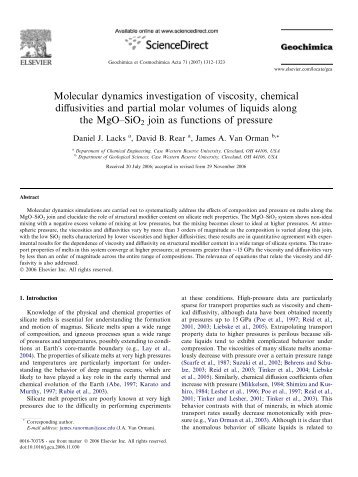 Molecular dynamics investigation of viscosity, chemical diffusivities ...