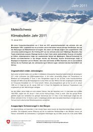 Download Bulletin PDF - MeteoSwiss - admin.ch
