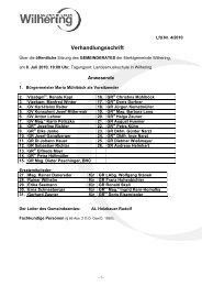 Sitzung vom 08.07.2010 (63 KB) - .PDF - Gemeinde Wilhering