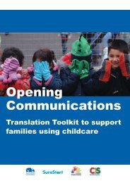 Opening Communications Toolkit - Young Southampton