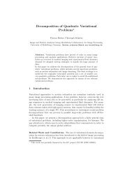 Decomposition of Quadratic Variational Problems* - Image & Pattern ...