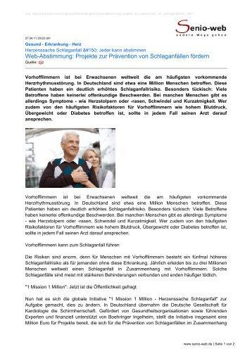Web-Abstimmung: Projekte zur Prävention von ... - Senio-Web