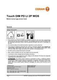 Touch DIM PD LI 2P WOS - Osram