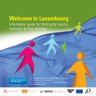 Welcome to Luxembourg, third party country nationals.