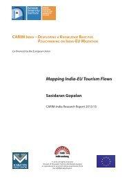 Mapping India-EU Tourism Flows - India-EU migration