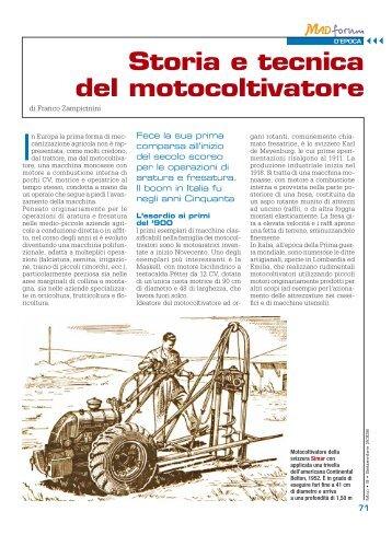 Storia e tecnica del motocoltivatore - Macchine Agricole Domani