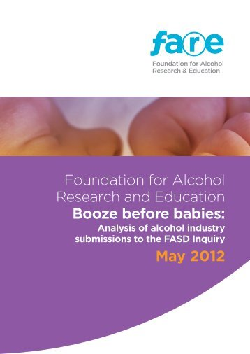 Booze before babies - FARE