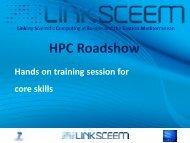Hands on - LinkSCEEM