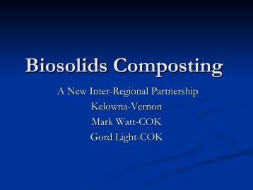 Biosolids Composting