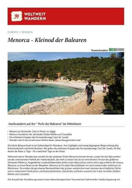 Menorca - Kleinod der Balearen - Weltweitwandern