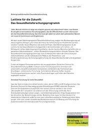Rahmenprogramm Gesundheitsforschung (PDF)