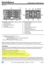 HP BladeSystem c3000 Enclosure - eD' system Czech, as