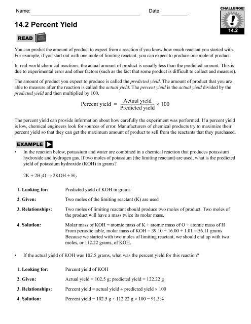 PES Skill Sheets book - CPO Science